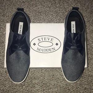 Steve Madden Shoes - Steve Madden Reid Navy Casual Shoes - Size 9